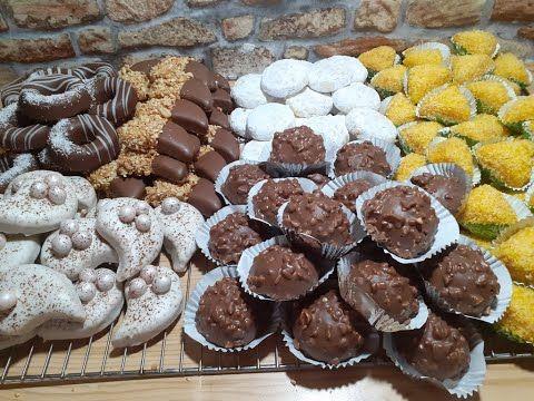 حلويات عيد الاضحى 2019 برطل مارغرين ستة انواع حلوى بعجينة واحدة و 130 حبة Youtube Pasteles Dibujos De Corazones Galletas