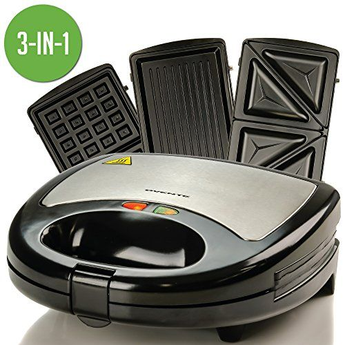 Ovente 3 In 1 Electric Sandwich Maker With Detachable Non Https Www Amazon Com Dp B0799v41gs Ref Cm Sw R Pi Dp U Sandwich Makers Waffles Maker Sandwiches