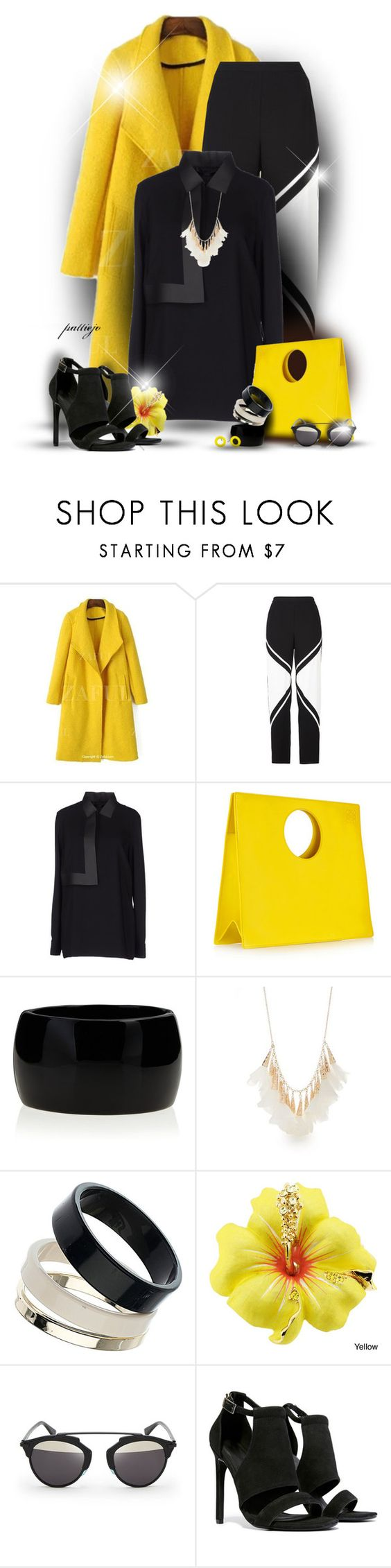 """""""Her Daffodil Brooch"""" by rockreborn ❤ liked on Polyvore featuring BCBGMAXAZRIA, Alexander Wang, Loewe, Kenneth Jay Lane, New Directions, Dorothy Perkins, Christian Dior, Keepsake the Label, Marc by Marc Jacobs and polyvoreeditorial"""