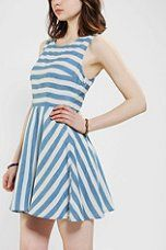 Urban Outfitters - Pins And Needles Cutout Back Stripe Dress