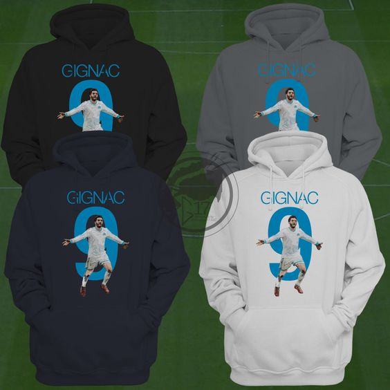 André-Pierre Gignac 9 Hoodie - Olympique de Marseille - Size S to XXL - Apparel Marseille, olympique sweatshirt, Gignac Hoodie by Graphics17 on Etsy