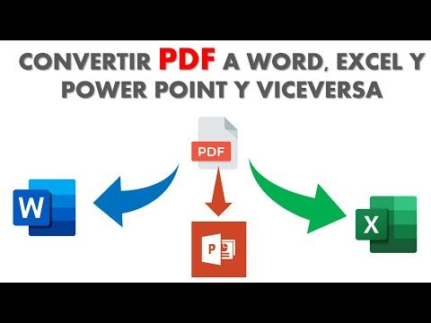 Como Convertir Pdf A Word Excel Y Power Point Y Viceversa Youtube Videos Educativos Documento De Word Youtube
