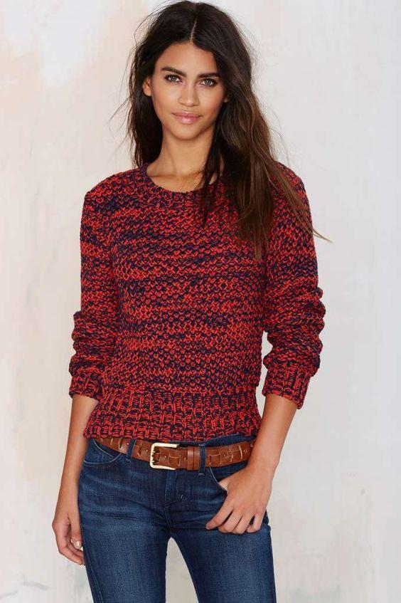 b85ae0763b JOA Street Heat Chunky Sweater