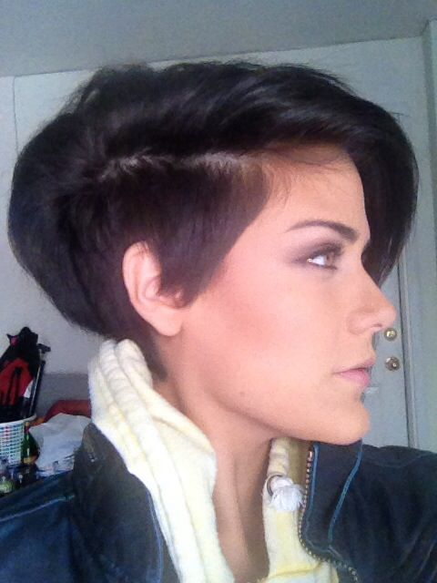 Styling too with the long mohawk short hair shaved sides......