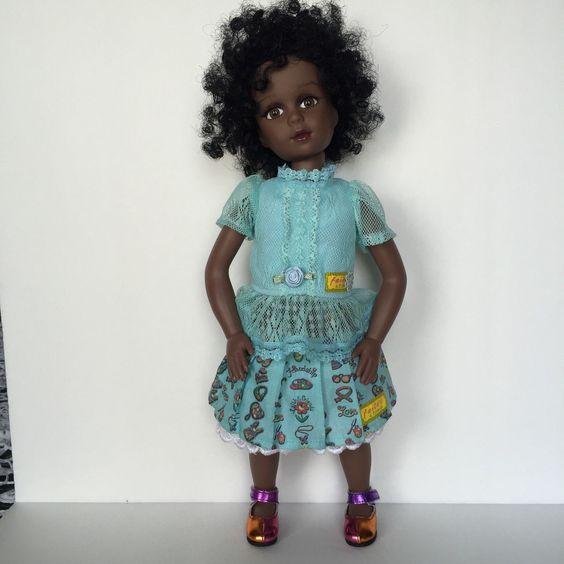 Robin Woods Vinyl Doll Faith N Friends African American Brown Eyes Play Repaint…