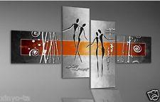 Moderno Abstracto Pintado A Mano Pintura al Óleo Danza moderno pared decoración arte Sobre Lienzo