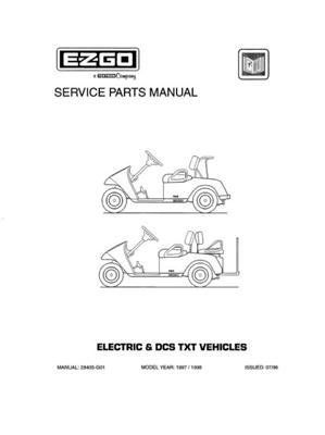 EZGO 28405G01 19971998 Service Parts Manual for Electric