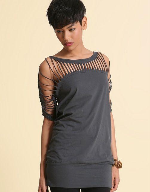 25 diy t shirt cutting designs t shirts creative and for Diy custom t shirts