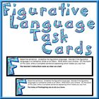 This is a set of 30 figurative language task cards!    24 cards contain a metaphor, simile or idiom used in a sentence. Students must then choose t...