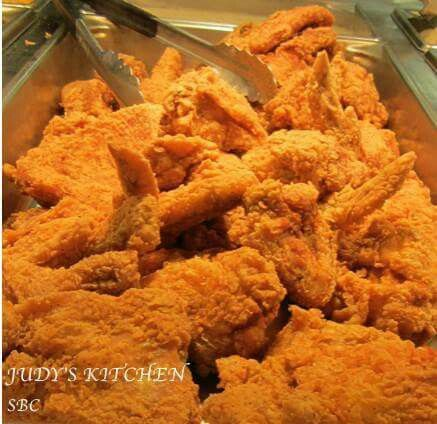 Copycat Popeye's Spicy Chicken:                 3 eggs  1/3 cup water  1 cup hot red pepper sauce (I like Louisiana Hot Sauce....Franks Red Hot Sauce!!)  4 cups flour  2 teaspoon pepper  2 teaspoon paprika  3 teaspoons cayenne pepper  1 quart buttermilk (optional)  Salt, Pepper, and Garlic Powder (to taste)  1 (1 to 2 1/2-pound) chicken, cut into pieces Peanut Oil, for frying  (see comment section for directions)