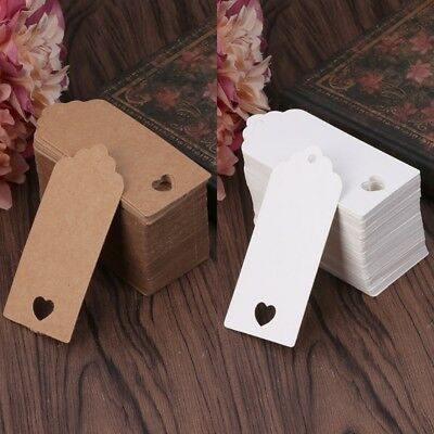 100pcs Blank  Kraft Paper Hang Tags Wedding Party Favor Label Price Gift Card ST