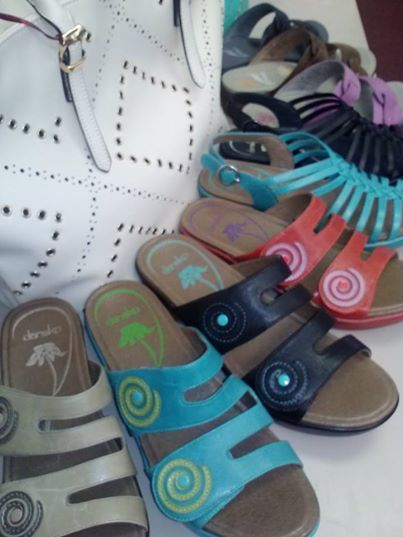 Let's warm up by thinking SPRING....stop by our store and check out the Dansko sandal sale.... buy one at the sale price, buy the second one at 50% off the white sticker price, while supplies last.