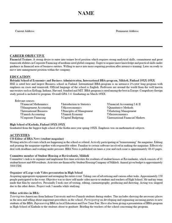 Resumes Educators Professional Resumes Has Been Supporting Instructors In Gov Sample Resume Templates Career Objectives For Resume Resume Objective Examples