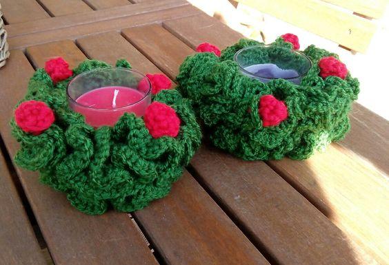 #navidad #portavelas #crochet