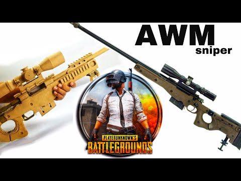 Awm Sniper In Pubg How To Make Cardboard Awm Sniper Youtube Sniper Cardboard Youtube