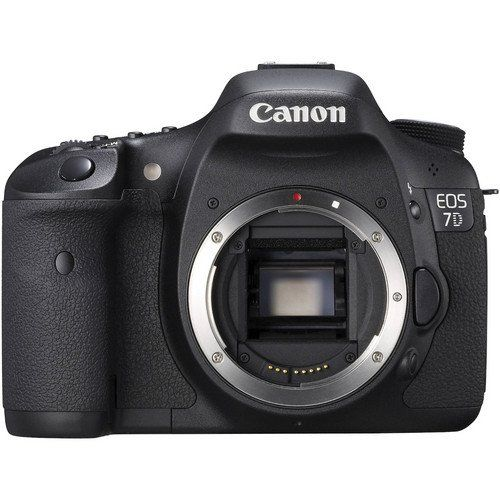 Canon EOS 7D 18 MP CMOS Digital SLR Camera with 3-inch LCD -      FEATURED  Canon EOS 7D 18 MP CMOS Digital SLR Camera with 3-inch LCD   18.0-megapixel CMOS Sensor and Dual DIGIC 4 Image Processors for high image quality and speed Body only; lenses sold separately Advanced HD movie mode with manual exposure control and selectable frame rates Intelligent...