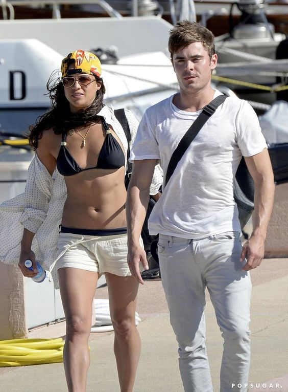 Pin for Later: This Week's Can't-Miss Celebrity Pics!  Michelle Rodriguez rocked a bikini while hanging out with Zac Efron in Italy on Tuesday.