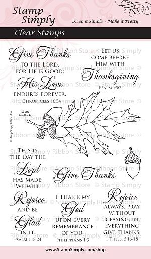 Stamp Simply - SS-009 Give Thanks Clear WEB 300514