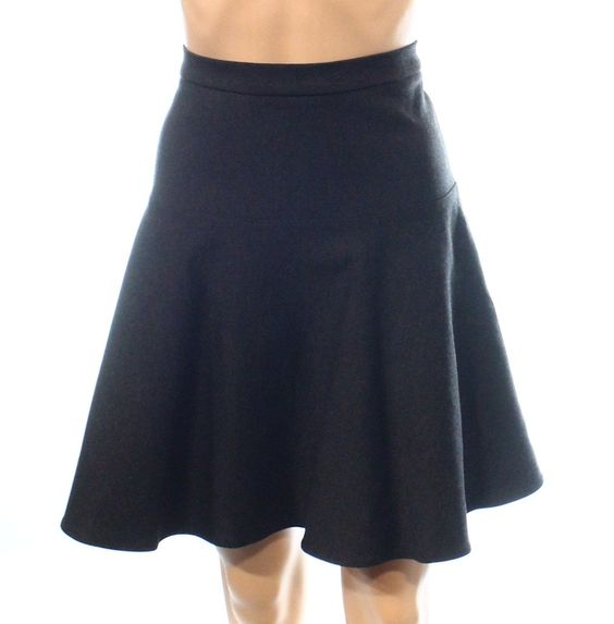 Calvin Klein Charcoal Women's Petite Ponte A-Line Skirt Gray 6P ...