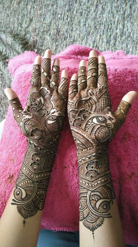 this is best front hand bridal mehndi design 2019
