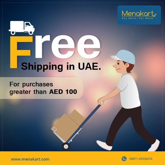 Free shipping on your doorsteps. All your purchases are just a click away. To know more about our products please visit us at https://www.menakart.com/ #menakart #free #shipping