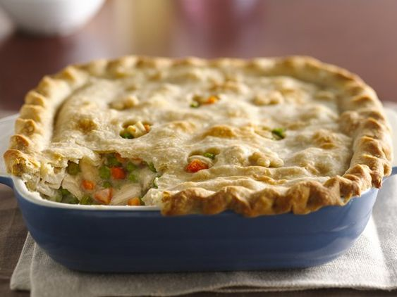 This classic comfort food is one of Betty's most popular casseroles! Perfect for a winter meal, and it will make your kitchen smell fantastic. Refrigerated pie crusts make this chicken pot pie extra easy, and you can use leftover cooked chicken or turkey to speed things along as well. Click through for the how-to video!