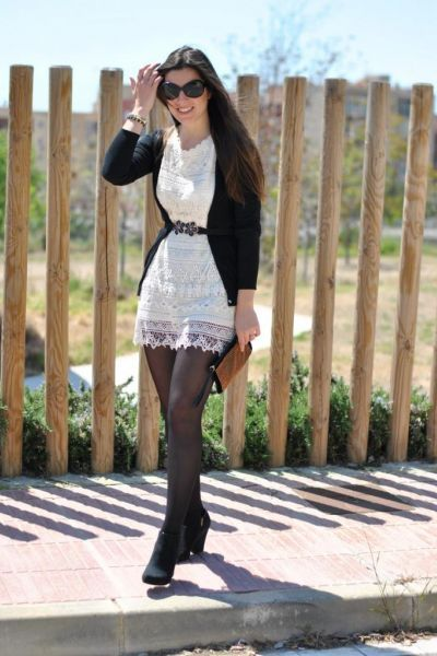outfit vestidos y medias - Buscar con Google