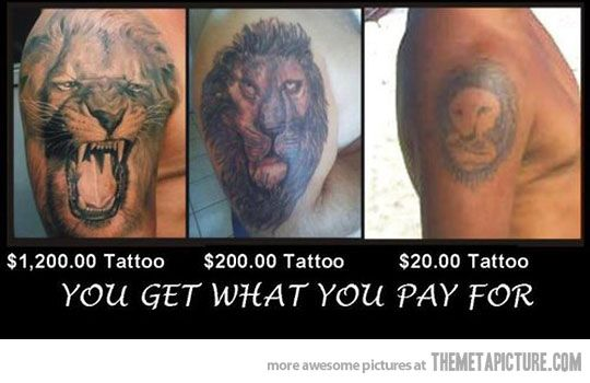 A Comparison of tattoos: