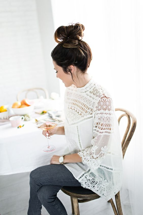 Image Via: Hello Fashion Blog in the Laced Maris Tunic #Anthropologie: