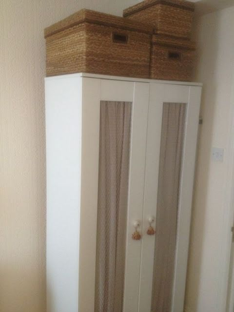 Materials: Aneboda wardrobe Description: We couldn't afford a new wardrobe so we decided to transform our old Aneboda one. This is how we did it: 1. Firstly we took off the doors from the wardrobe as well as the handles and hinges. 2. Then we removed the plastic panels on the doors by pushing and [&hellip