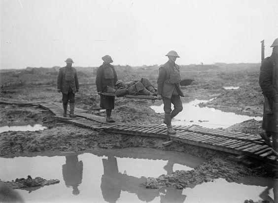 Duck Boards near Ypres 1918
