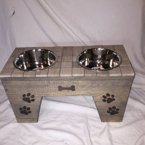 "Dog feeder 12 1/2"" tall by HungryHoundsFeeders on Etsy"
