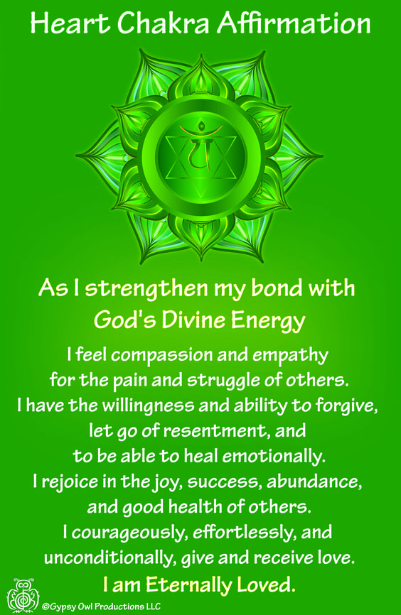 The heart Chakra also known as the Anahata Chakra is located within your heart. It is associated with the color green. It is the color of healing, balance, tranquility, and serenity
