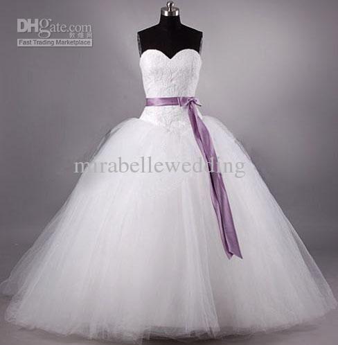 Wholesale Purple - Buy 2013 New Sweetheart Purple Ribbon Bow Sash ...