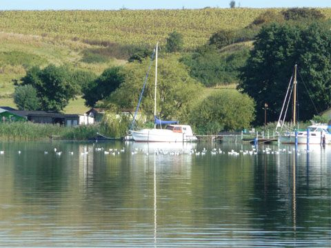 Segelboote auf dem Nepperminer See: Das Hinterland der Insel Usedom.
