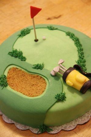 golfers retirement cake gift