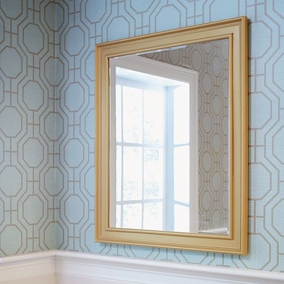 How to make a diy mirror frame with moulding beautiful for Custom made bathroom mirrors