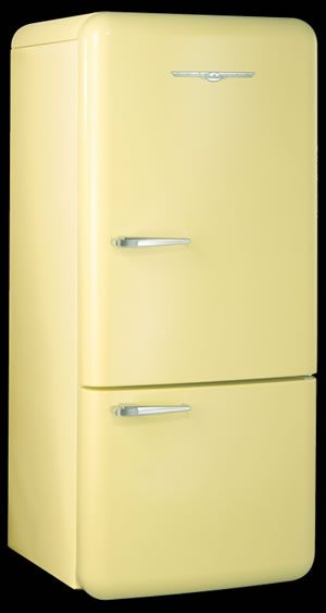 1950 S Refrigerator In Butter Yellow Otherwise Known As