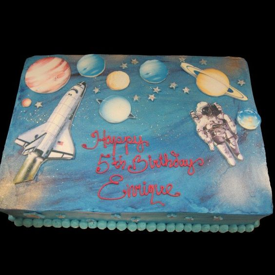 Space birthday cake ideas astronaut cake diy crafts for Cake decorations outer space