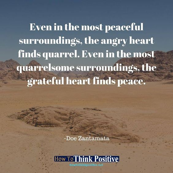 Even in the most peaceful surroundings, the angry heart finds quarrel. Even in the most quarrelsome surroundings, the grateful heart finds peace. #life #happy #quotes #inspiration #motivation #love #win #sad #quoteoftheday #success #like #words #poetry #h