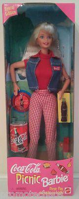 COCA-COLA PICNIC BARBIE Special Edition Doll Mattel bottles cans Vintage COKE nr