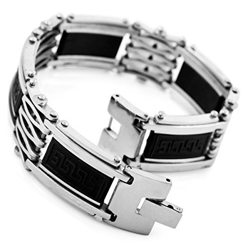 Edelstahl armband herren schwarz