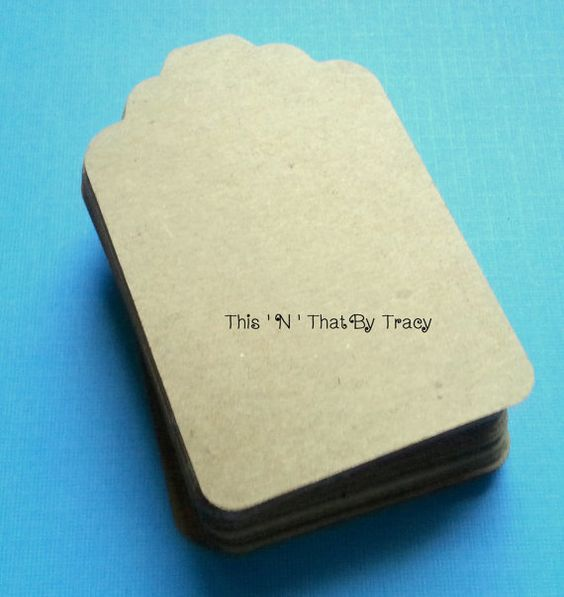 Large Blank Kraft Tags Gift Tags Wedding by ThisNThatByTracy, $10.25