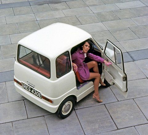 """Ford 1967 Commuta concept. Apparently FORD built the first """"Smart Car""""."""