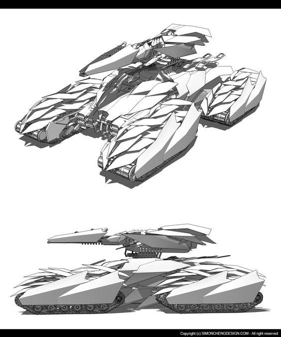 Alien Tank concept design, Simon Cheng on ArtStation at http://www.artstation.com/artwork/alien-tank-concept-design: