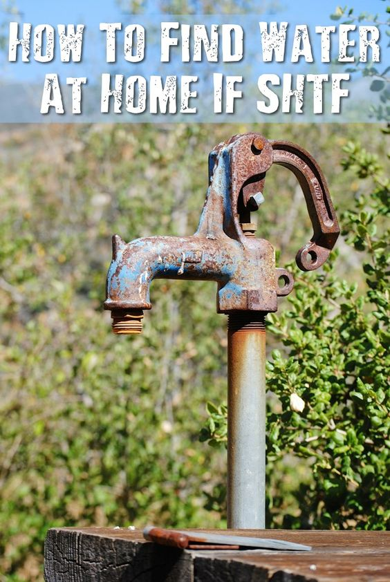 How To Find Water At Home If SHTF - If you do not have enough water stored, there are sources in your home, town or city that may provide safe, clean water for drinking purposes in a SHTF situation.