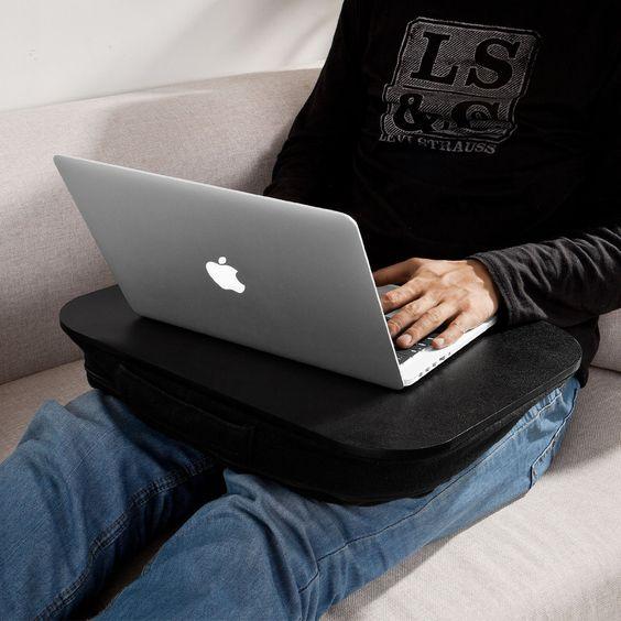 SoBuy Laptop-Schoßtablett, Notebookablage, Betttisch, schwarz, FBT28-SCH (Schwarz): Amazon.de: Küche & Haushalt