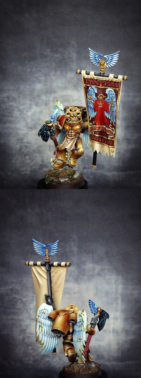 Space Marines : Blood Angels - Exhibition of miniatures painted by other artists around the world