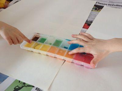 Peinture aux glaçons / Le Blog du Petit Manuel | Le Petit Manuel - Travaux manuels et loisirs créatifs pour enfants de 2 à 12 ans