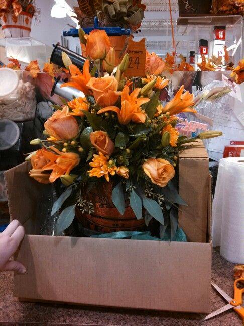 Flower Arrangements Basketball And Flower On Pinterest